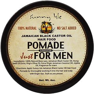 Sunny Isle Jamaican Black Castor Oil Hair Food Pomade for Men, Brown, 4 ounce (005440)