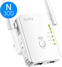 Cudy 300Mbps WiFi Range Extender, Range Booster, Access Point Mode, 2 LAN Ports, WPS, Extends WiFi Range to Smart Home & Alexa Device (RE300)