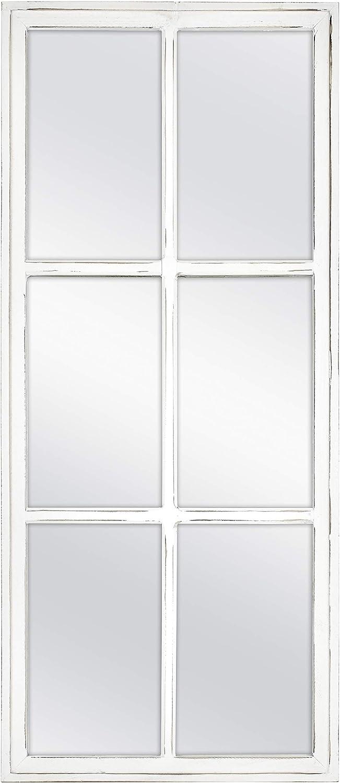 MCS 13x30 Inch White Mirror Wall Farmhouse Bargain Windowpane Ranking TOP3