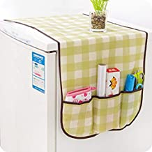 Refrigerator Dust Proof Cover Home Lattice Storage Pouch Organize Bag