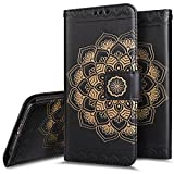 iPhone 6 Case,iPhone 6S Wallet Case,PHEZEN Embossed Mandala Florals PU Leather 2 in 1 Magnetic Detachable Wallet Flip Case Cover Slim Back Cover Card Holder Wrist Strap for iPhone 6/6S 4.7