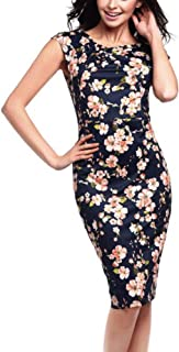 Misaky Women's Dress, Floral Pattern Business Casual Work Pencil Dress