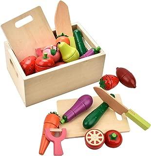 CARLORBO ままごと木製 野菜や果物 木箱入り おままごといっぱい 12点セット マグネット式 ままごとセット 女の子 男の子 おもちゃ 人気 プレゼント