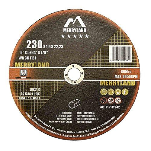 Merryland 230 X 1,9 Experto-line Disco de Corte Acero Inoxidable Metal 25PCS