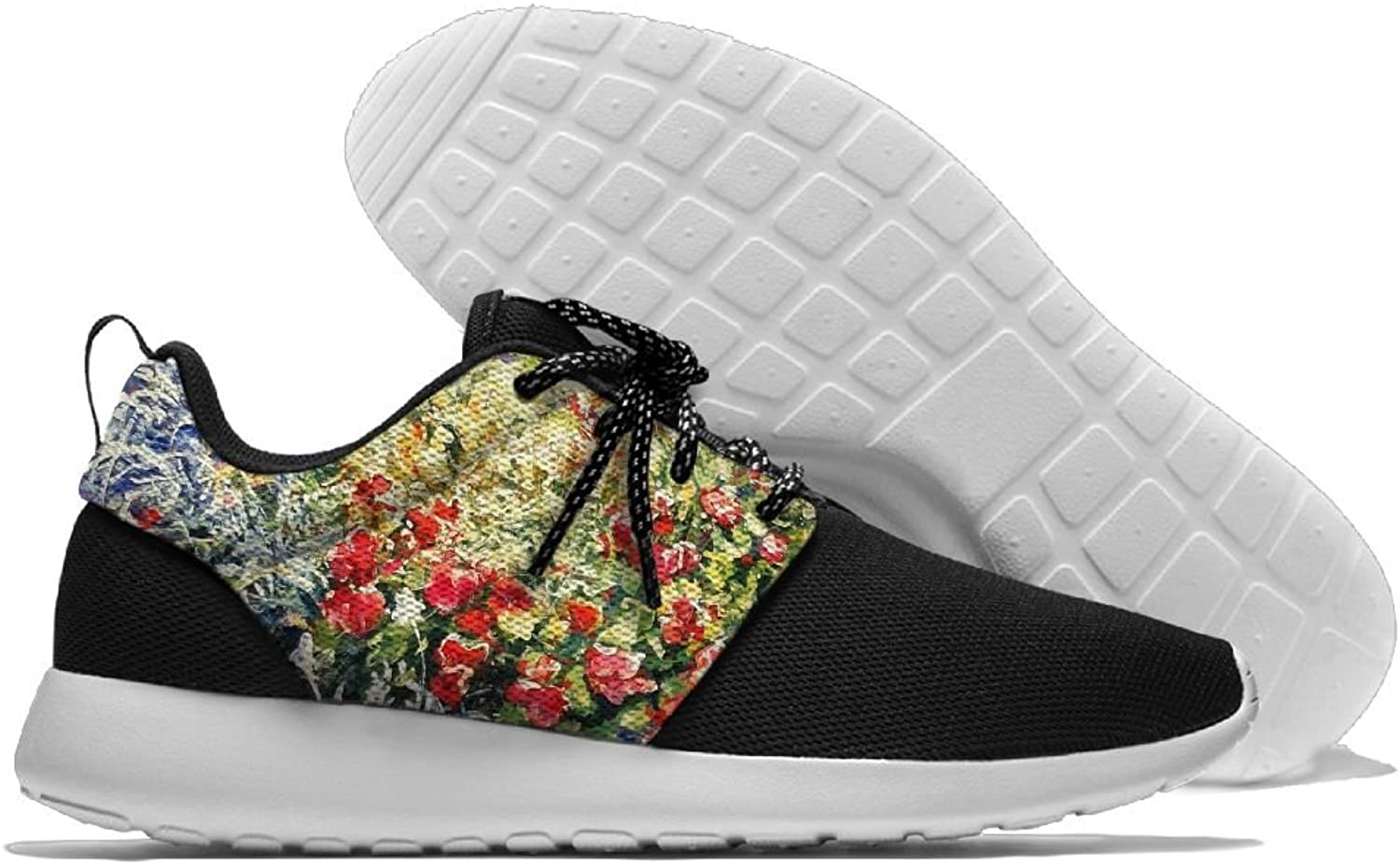 Sneakers Casual Running shoes Oil Flower Lightweight Breathable Mesh Walking Men Women shoes For Sports Athletic Gym Travel