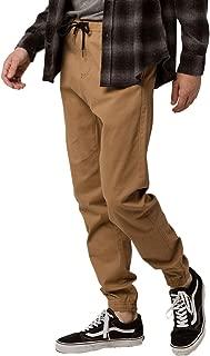 CHARLES AND A HALF Twill Jogger Pants, Tan, Medium