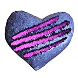 Tomus-UNI Mermaid Sequin Pillow with Insert, 13''×15'' Heart Magic...