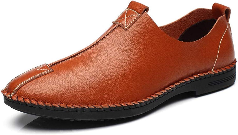 Men's shoes Comfort Flat Loafers Spring Season Summer Comfort Loafers & Slip-Ons Black Light Brown Dark bluee