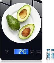 Homever Balance de cuisine 15 kg avec écran LCD rétroéclairé - Balance de cuisine en acier inoxydable avec précision de 1 ...