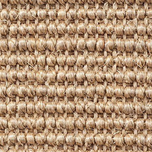 Teppichboden Auslegware | Sisal Naturfaser Schlinge | 400 cm Breite | beige natur | Meterware, verschiedene Größen | Größe: 1 x 4m