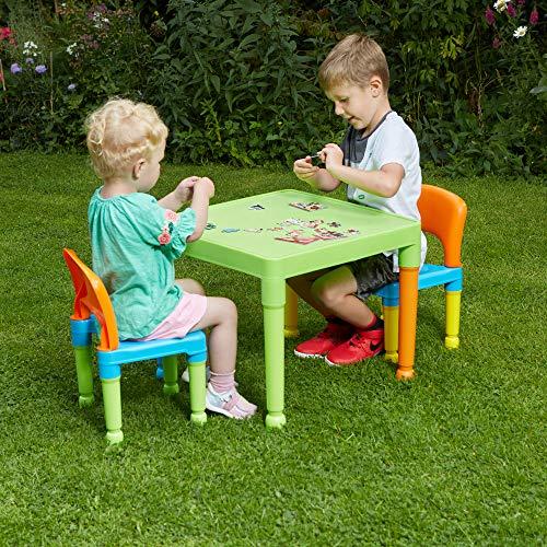 Liberty House Toys Ensemble Table et 2chaises pour Enfants, en Plastique,...