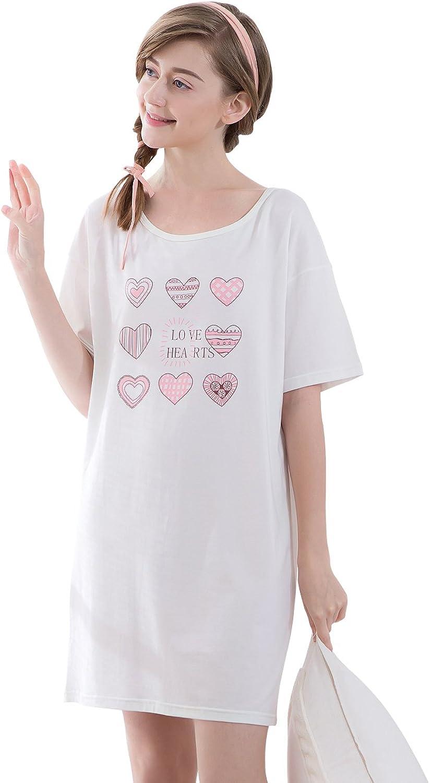 Women Good Quality Cotton Cute Nightgowns Summer Sleepwear