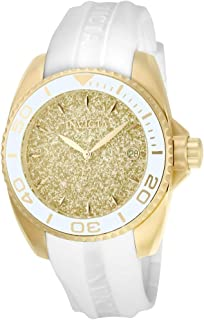 Invicta Women's 'Angel' Quartz Stainless Steel and Silicone Casual Watch, Color White (Model: 22703)