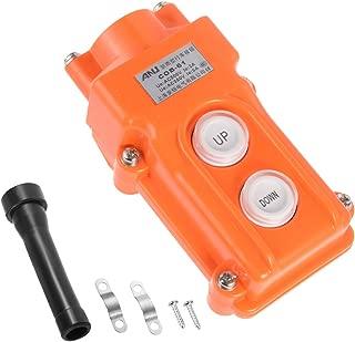 uxcell Rainproof Hoist Crane Pendant Control Station Push Button Switch Up Down 2 Buttons