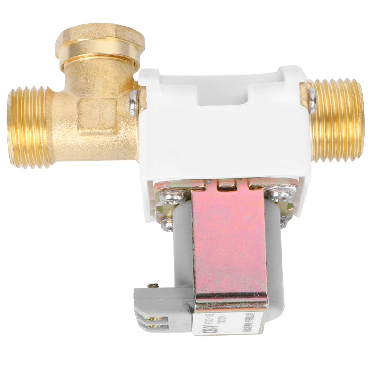 UEETEK - Válvula solenoide eléctrica para agua y aire, 1/2 pulgadas, 12 V