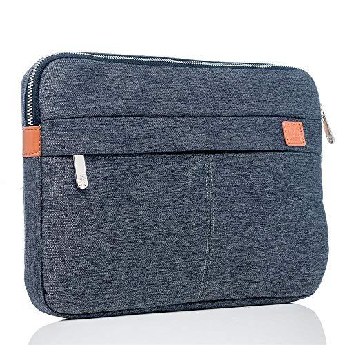 BiDZO Casual Funda   Protector de Móvil     Case   Funda   Bag 10–11para Huawei MediaPad M5, M5Lite con Cremallera, Incluye Compartimento para Accesorios y Smartphone, teléfono móvil–Gris