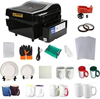 3D Vacuum Heat Press Machine Sublimation Transfer Mug Plate Tile T-shirt CISS Tape Printing Business