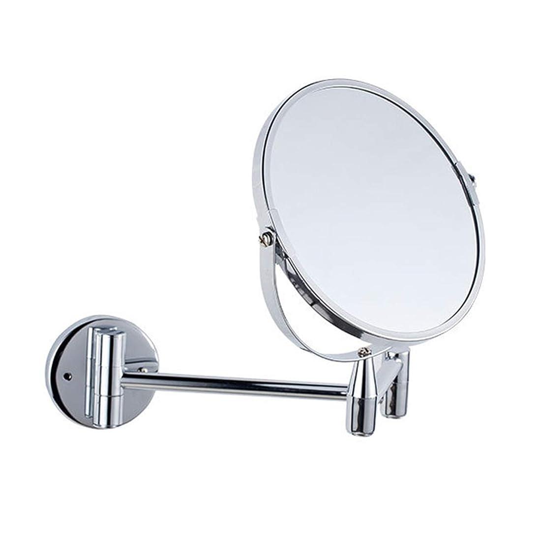 エキサイティング小さなぬるいウォールミラーホームホテルメタル折りたたみ化粧鏡ファッション両面浴室チューブウォールミラー,鏡 折りたたみ