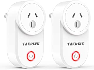 TAKRINK 2Pcs Smart Plug Smart Socket WiFi Outlet App Remote Control Compatible with Amazon Alexa Echo and Google Home IFTTT