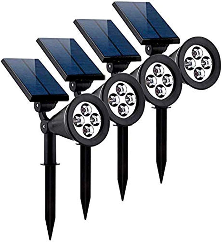 Solar Spot Lights im Freien, wasserdichte 2-in-1 auerhalb solarbetriebene Spotlight Led Beleuchtung Auto On Off für Weg, Gehweg, Terrasse, Hof, Garten und Landschaft (4-Pack)
