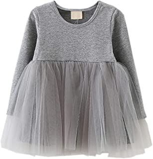 LYXIOF Baby Girls Toddler Tutu Dress Long Sleeve/Sleeveless Princess Infant Tulle Sundress