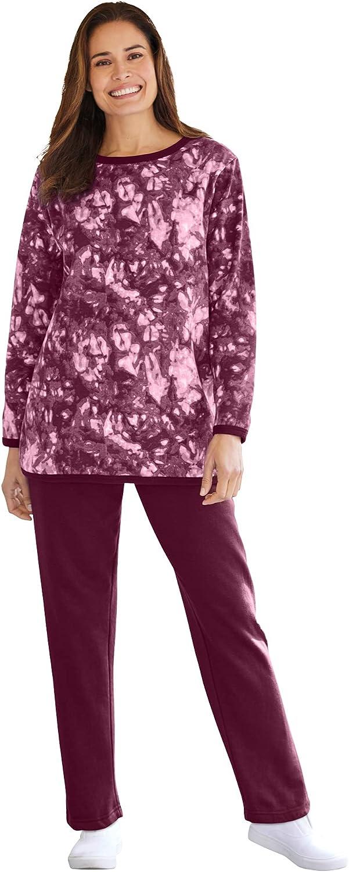 Woman Within Women's Plus Size Petite Fleece Sweatsuit