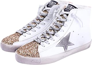 Women's Flat Sneakers High Top Glitter Fashion Star Lace...
