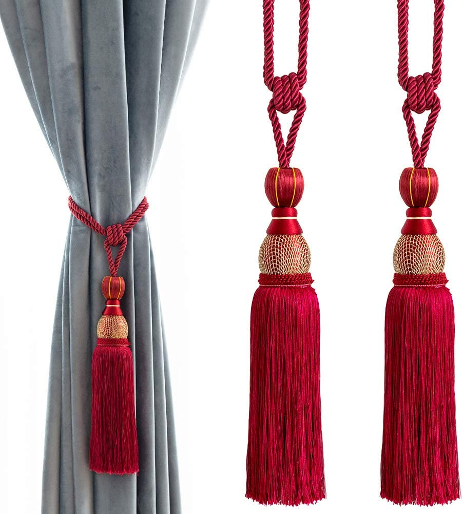 Super-cheap Melodieux Decorative Curtain Tiebacks Outlet sale feature Ball Holdbacks Ho Tassels