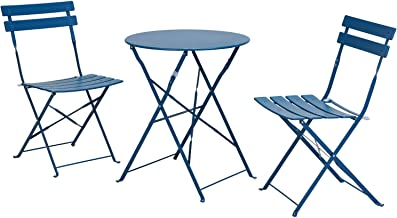 Grand patio Premium Steel Patio Bistro Set, Folding Outdoor Patio Furniture Sets, 3 Piece Patio Set of Foldable Patio Tabl...