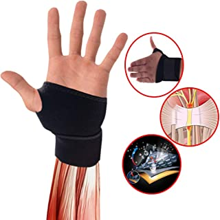 BestSupport Wrist-Brace for Pain Relief Wrist Wraps-Support for Arthritis and Carpal Tunnel-Hand Brace for Weight-Lifting (1 Pack, Black)