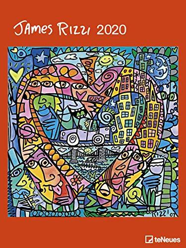 James Rizzi 2020 - Kunstkalender - 48x64cm - Posterkalender mit Pop Art Kunst