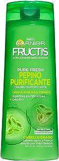 Garnier Fructis Champú Pure Fresh Pepino Purificante - 360 ml - [pack de 3]