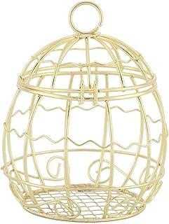 1 UNIDS Caja de Caramelo de Oro Jaula de Pájaro de Metal de Oro En Forma de Cajas de Chocolate Decorativas Favor de Contenedor de Azúcar Banquete de Boda Decoración de Fiesta Accesorios de Navidad