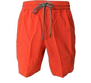 ZEYBRA Costume Uomo Boxer Tinta Unita Orange Fluo MOD AUB001 100% Poliammide Made in Italy