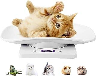 ترازوی حیوان خانگی دیجیتال ، مقیاس آشپزخانه چند منظوره LCD با سه حالت توزین (کیلوگرم/اونس/پوند) ، ترازوی کودک ، ترازوی حیوانات کوچک برای بچه گربه/همستر/خارپشت/غذا (سفید)