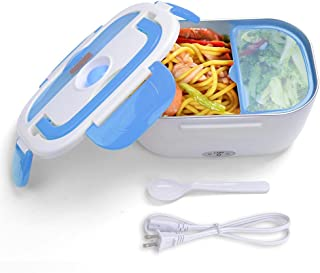 Yescom 1.5L Portable Electric Heating Lunch Box Food Storage Warmer w/Stain Steel & PP Removable Container Blue