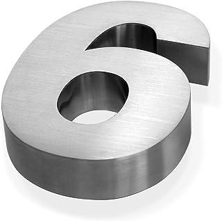 W-L N/úmeros Casa Exterior Negro Metal 3D Moderno de la casa el indicativo de 0-9 Placas ABC Impermeable al Aire Libre Home Hotel Puerta de Acero Inoxidable Lettre addresss
