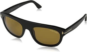 Tom Ford Mens Federicao Signature Everyday Rectangle Sunglasses Black O/S