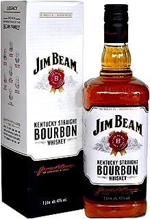 Jim Beam White Label With Gift Box Kentucky Bourbon Whiskey 1L