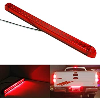 iJDMTOY 17-Inch Trunk Tailgate Red LED Tail/Brake Light Bar Compatible with Ford GMC Chevy Dodge Toyota Nissan Honda Truck