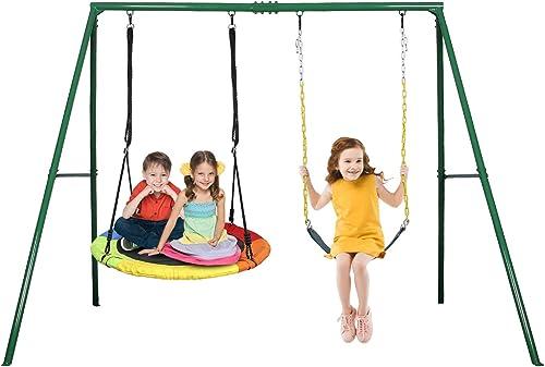 Trekassy 440lbs 2 Seat Swing Set - Best Swing Sets Under 1000$