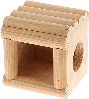 Natural Wooden Tortoise Rabbit Guinea Pig Hamster Pet Hideaway House