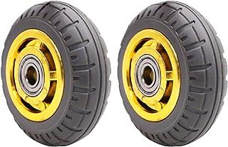 YJJT Rubber wiel, Heavy Duty Silent Wheel, Slijtvast, antislip, 3,4,5 inch, elk met een maximale belasting van 120 kg, Wie...