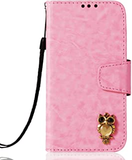 PU Leather Flip Cover Compatible with Samsung Galaxy A70S, pink Wallet Case for Samsung Galaxy A70S