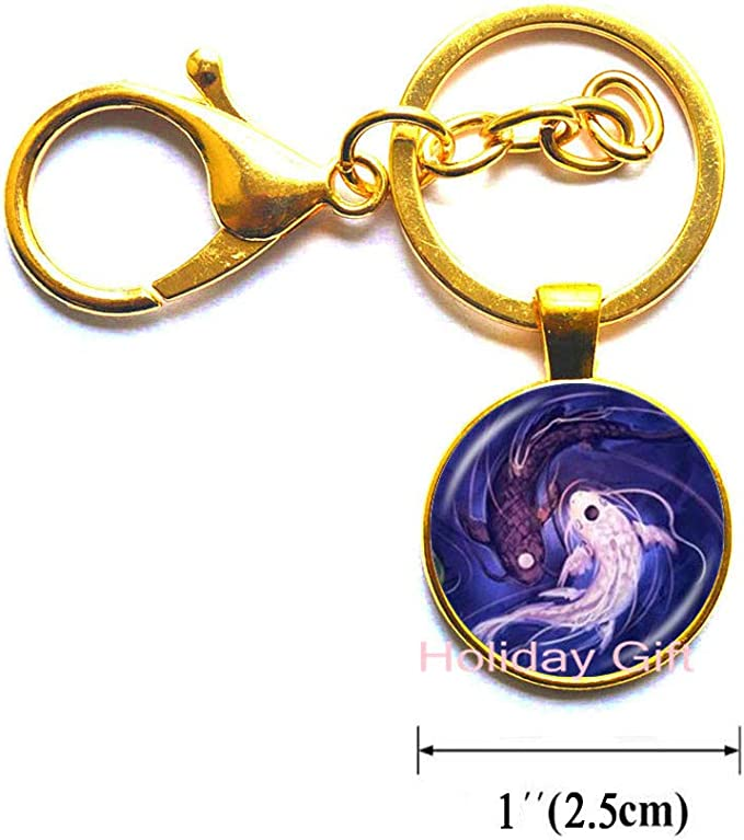 Holiday gift Yin Yang Fish Anchor Necklace Ying and Yang Tai Pendant Jewelry Chinese Taoism Eight Diagrams Pattern Jewelry Glass Dome Choker,H143