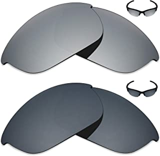 Mryok 2 Pair Polarized Replacement Lenses for Oakley Half Jacket 2.0 Sunglass - Options