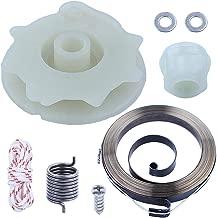 Adefol Chainsaw Recoil Starter Pulley Spring Kit for Poulan PP4218 PP4620AV PPB4018 SM4218AV with Recoil Spring W/Hub, Starter Rope, Bolt w/Washer Replacement Parts for 530071966