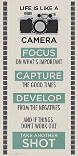 Culturenik Life is a Camera Inspirational Motivational Photography Quote Print (Unframed 12x24 Poster)