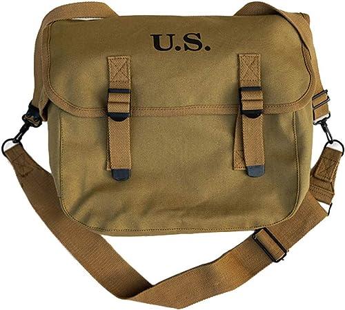 Sac à dos rétro, sac à dos militaire, sac d'épaule en toile de l'armée américaine de la Seconde Guerre mondiale