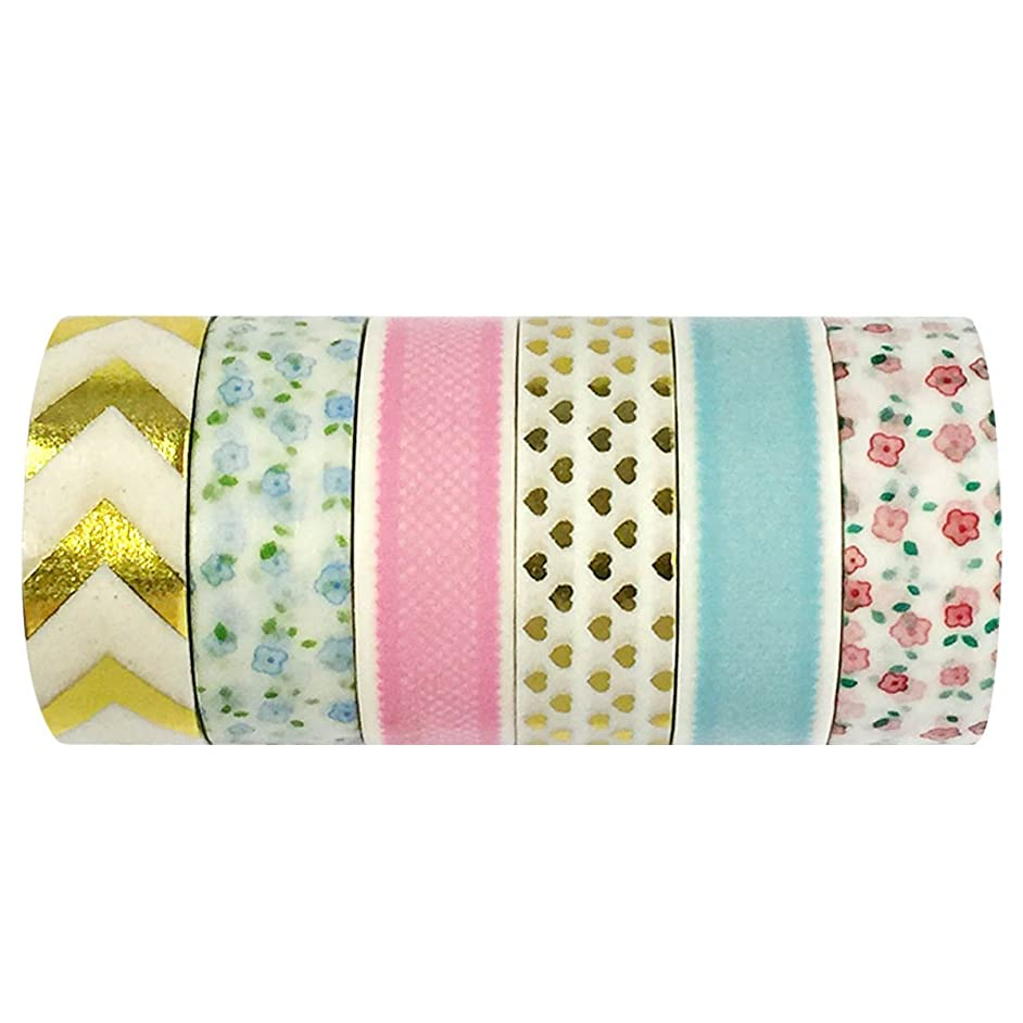 Allydrew Washi Tapes Decorative Masking Tapes, Set of 6, AD88 tfnksl42277